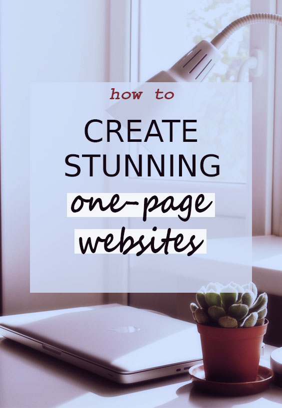 Tips for a stunning single-page website