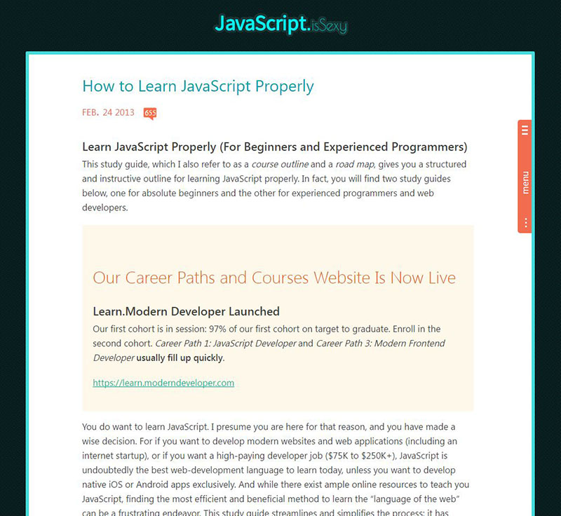 awesome free resources for learning JavaScript