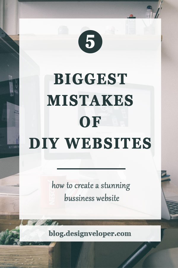 Biggest mistakes of do-it-yourself websites