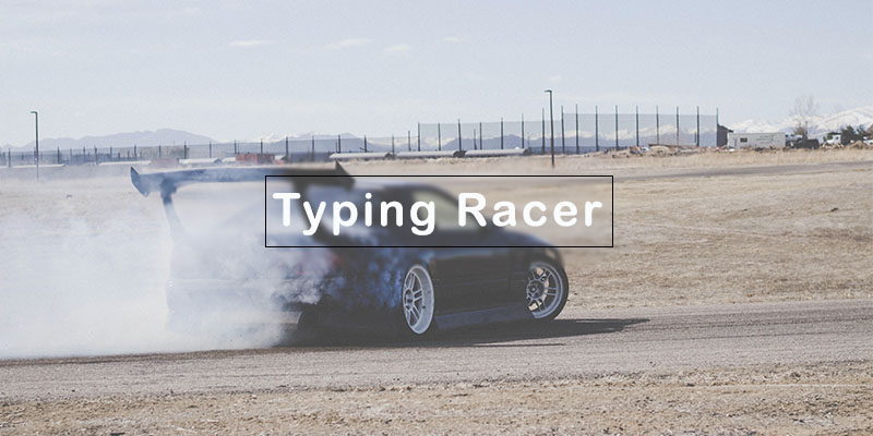 Typing racer game