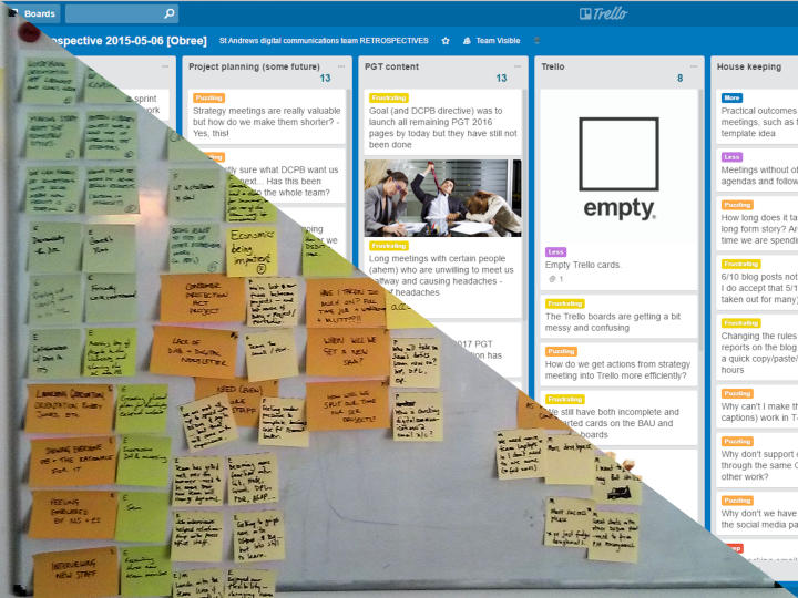 Trello is replacing sticky notes and white boards.